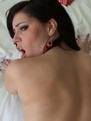Gonzo fatty with a round booty slurps on a cock and enjoys it in her mouth