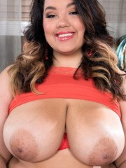 Latina fatty Chevy Cobain shows off her huge fat ass and big saggy boobs