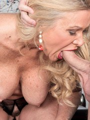 Hot over 50 lady Lauren Taylor fucks her young lover boy every which way