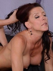 Top mature Soleil works heavy dong in the pussy and mouth for hours