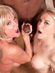 Blonde mature with fine tits Robin Pachino severe sex with black hunk