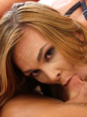 Jaded gf Jenny Jett gives her yoga instructor a BJ after her guy cheats on her