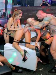 Rough sex is the order of the day at this swing club party