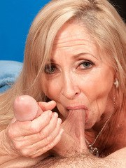 Blonde mature Connie McCoy intense sex encounter with young males huge cock