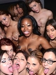 Party girls get naked to play hardcore with guys in a reality porn action