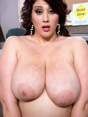 BBW angel Angel DeLuca gets her huge tits squeezed and her meaty cunt drilled