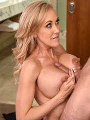 Cum-thirsty mom Brandi Love cannot get enough of this cock fucks like a pro