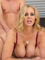 Astounding mom Julia Ann tempts a sexy young guy and fucks like a real slut