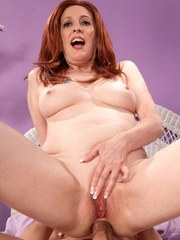 BBW mature slut with red hair screams loudly while getting anal fucked hard