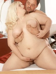 Chubby European housewife Radka gets her meaty pussy filled by a big pecker