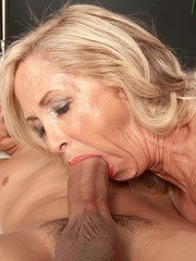 Blonde mature Connie McCoy sucks young dick in passionate POV scenes