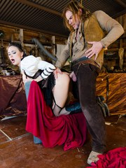 MILF Chanel Preston pleases a cowboy while wearing a saloon girl costume