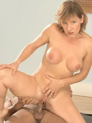 Cock loving housewife Wendy goes crazy about sucking and riding the young dick