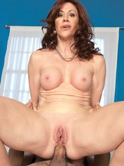 Older mom Catherine seduces a Latino male for deep anal fucking