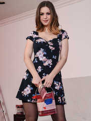 Hot wife Stella Cox strips off summer dress and undies to make her hubby happy