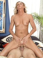 Mature blonde wife Ginger fucks another man while her husband is on business