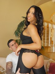 Beautiful Latina female Sophia Fiore knows just what to do with a large cock