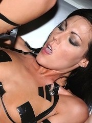 Semi-nude girls suck  fuck any all cocks that come their way in a group fuck