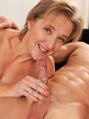 Nude grandmother Meryl Strip introduces her grandson to the joys of oral sex