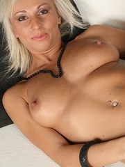 Older blonde MILF has a nice set of tits on her for sure