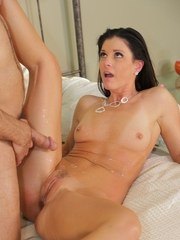 Nude pornstar India Summer concludes a steamy fuck with jizz on her pussy