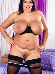Overweight solo model Kerry Marie pulls out a sex toy to please herself