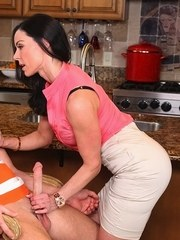 Stepmom joins the fun after catching her stepson fucking her stepdaughter