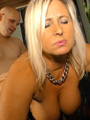 Middle aged fatty please her man with oral sex and a titty fuck