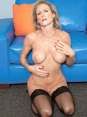 Naughty cougar Jade seduces the next door neighbours son with a panty flash