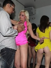 Bethany Benz  Sierra Sanders join their gfs in sucking cock at a swing party