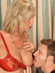 Blonde cougar Anneke Nordstrum likes a young mans hard cock in her asshole