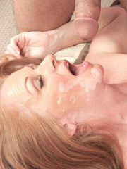Beautiful granny Misty Gold shows her younger Latino lover a real good time