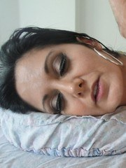 Naked MILF Ava Adams is oiled up and fucked by her masseur