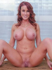 Big boobed cougar Sabrina Cyns shows her young lover how to screw