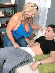 Hot grandmother Zena Rey takes her stepgrandsons virginity