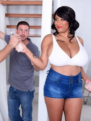 Hot chicks with huge breasts seduces not 1 but 2 guys at the same time