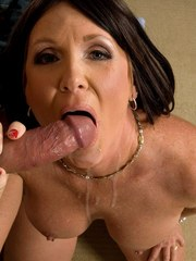 Older brunette lady Honey Ray and her boy toy fuck their way to bliss