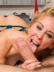 MILF pornstar Cherie DeVille is left with a gaping anus after anal sex