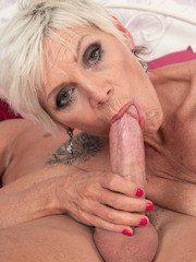 Mature lady Nicol Mandorla put her boy toy thru his paces during a hard fuck
