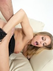 Busty blonde Britney Amber gets nailed hard after sucking dick