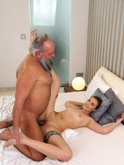 Teen girl Lulu Love works out her daddy issues with bearded old man