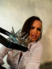Linet Slag is tormented after being restrained for BDSM training session