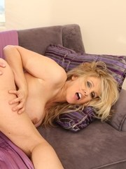Big titted MILF Julia Ann gets fucked and jizzed upon on a sofa