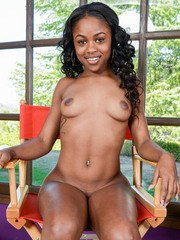 Young black girl Amilian Kush makes her nude modeling debut