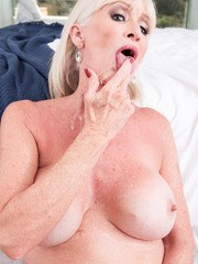 Big titted granny Leah LAmour gets banged by her boy toy