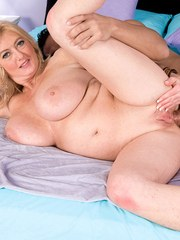 Chubby blonde woman Tahnee Taylor gets stripped naked and fucked hard