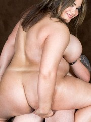 BBW Gia Johnson is stripped and banged by her man friend