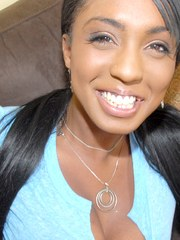 Black amateur takes off her shorts and thong at her boyfriends bequest
