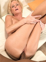 Older lady Trixie Blu brings her interracial sex fantasies to life