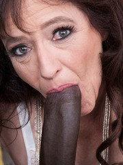 Old lady Whinny Spice finally realizes her fantasy of fucking a BBC